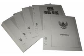 Lindner Inhouden / T-Voordruk albumbladen met folie voorbladen met stroken (Inhoud) Indonesië 1999-2004 (49 bladen) (Lindner 506-99)