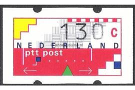 SPECIALITEIT! Nederland NVPH AU13 Postfris MET RUGNUMMER 1075 (130 cent) Automaatstroken, Voordrukzegel voor Klüssendorf-automaat 1996