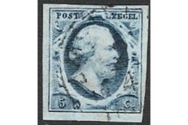 NVPH 1  Gestempeld FOTOLEVERING (5 cent) 1e emissie Koning Willem III 1851