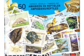 Importa Postzegelpakket AMFIBIEËN EN REPTIELEN (50 verschillende zegels)