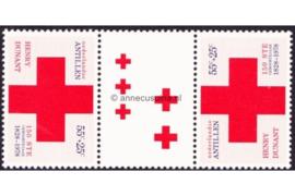 Nederlandse Antillen NVPH 592a Postfris FOTOLEVERING Keerdruk MET 2 GROTE en 3 KLEINE KRUIZEN Rode Kruis 1978