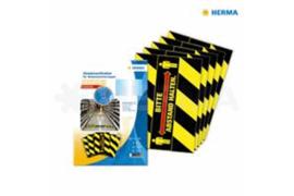 "Herma Vloermarkering Zwart/Geel & ""Bitte Abstand Halten"" (70x297mm) 5x3 Stickers (Herma 12918)"