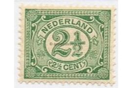 Nederland NVPH 55 Gestempeld (2 1/2 cent) Cijfer Vürtheim 1899-1913