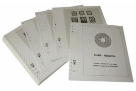 Lindner Inhouden / T-Voordruk albumbladen met folie voorbladen met stroken (Inhoud) China-Taiwan (Formosa) 1989-1994 (incl. Portzegels 1948-1998) (47 bladen) (Lindner 164-89)