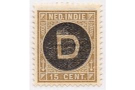 NVPH D3  Ongebruikt (15 cent) Frankeerzegel der uitgiften 1892-1897, overdukt in zwart 1911