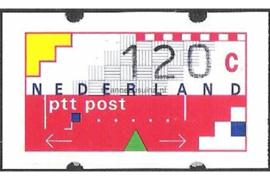 SPECIALITEIT! Nederland NVPH AU12 Postfris MET RUGNUMMER 1085 (120 cent) Automaatstroken, Voordrukzegel voor Klüssendorf-automaat 1996