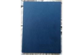 Gebruikt Briefmarken Insteekboek Blauw 8 Bladzijden