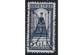 Nederland NVPH 131 Gestempeld FOTOLEVERING (5 gulden) 25 jarig regeringsjubileum koningin Wilhelmina 1923