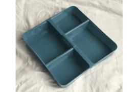 Was- en sorteerschaaltje met 4 vakken Grijs/Blauw