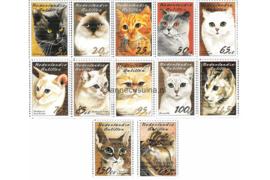 Nederlandse Antillen NVPH 1460-1471 Postfris (Als losse zegels) Katten 2003