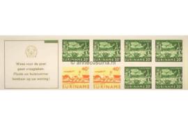 Republiek Suriname Zonnebloem PB 3bp Postfris Postzegelboekje 2 x 40 ct + 6 x 20 ct en met tekst 1978
