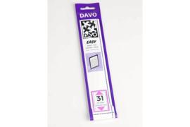 DAVO Easy stroken zwart Z31 (215 x 35) 25 stuks