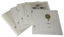 Lindner Inhouden / T-Voordruk albumbladen met folie voorbladen met stroken (Inhoud) Frankrijk 2006-2008 in kleur (50 bladen) (Lindner 132-06)