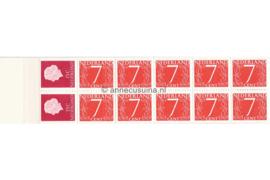 Nederland NVPH PB 1H7 Postfris Postzegelboekje 10 x 7ct cijfer v. Krimpen + 2 x 15ct Juliana 1964