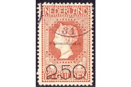 Nederland NVPH 105 Gestempeld FOTOLEVERING (2 1/2 gulden op 10 gulden) Opruimingsuitgifte 1920