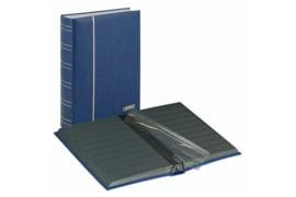 Lindner Insteekalbum Luxe/Luxus Nubuk (60 blz.) Zwarte bladen/Blauwe kaft (Lindner 1181-B)