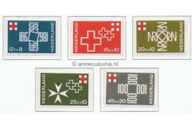 NVPH 889-893 Postfris 100 jaar Nederlands Rode Kruis 1967