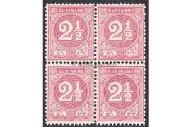 NVPH 18 Postfris (2 1/2 cent) (Blokje van vier) Cijfer 1890-1893