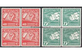 Nederland NVPH LP4-LP5 Postfris (Blokjes van vier) Koppen en Van der Hoop 1928