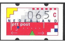 Nederland NVPH AU6 Postfris (65 cent) Automaatstroken, Voordrukzegel voor Klüssendorf-automaat 1996