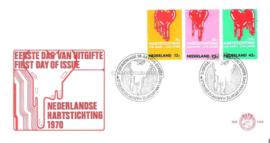 Nederland NVPH E108 Onbeschreven 1e Dag-enveloppe Hartstichting 1970