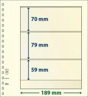 Lindner T-Blanco blad met 3 stroken (Lindner 802301) (per stuk)