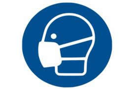 """Herma Gebodsticker """"Mondkapje Dragen"""" (ø 20cm) 1 Sticker (Herma 12923PS)"""