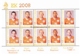 Nederland NVPH 2562-F-2 Postfris Overige velletjes (Persoonlijke Postzegels) Velletje EK Voetbal, de spelers van Oranje 2008