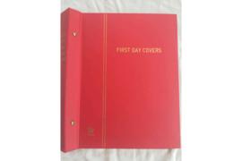 Gebruikt Importa Luxe FDC Nederland album Rood PS II met 15 FDC Bladen voor 60 enveloppen
