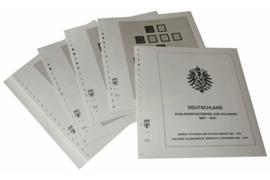 Lindner Inhouden / T-Voordruk albumbladen met folie voorbladen met stroken (Inhoud) Duitse Postkantoren in het buitenland en koloniën 1897-1919 (22 bladen) (Lindner 113)