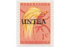 West-Nieuw-Guinea (UNTEA) NVPH 1 Postfris (1 cent) Overdrukken op postzegels van Nederlands Nieuw Guinea 1962