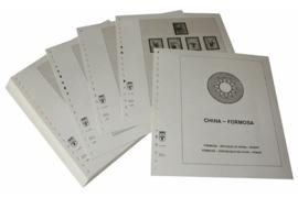 Lindner Inhouden / T-Voordruk albumbladen met folie voorbladen met stroken (Inhoud) China-Taiwan (Formosa) 1982-1988 (incl. Portzegels 1948-1998) (45 bladen) (Lindner 164-82)