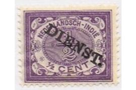 NVPH D9   Postfris (1/2 cent) Frankeerzegels der uitgifte 1883 en 1902-1909 overdrukt in zwart