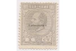 Suriname NVPH 1 Postfris (1 cent) Koning Willem III 1873-1889