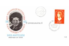 Nederlandse Antillen NVPH E34 (E34a; Portret in ovaal) Bezoek Prinses Beatrix 1965