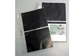 DAVO Mappen voor FDC's G2 Zwarte kaartjes (per stuk)