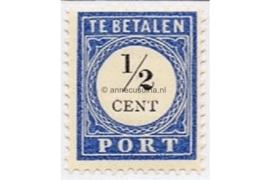 NVPH P13 Postfris (1/2 cent) Cijfer en waarde zwart 1894-1910