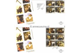 NVPH E504 Carel Fabritius op 2 enveloppen 2004
