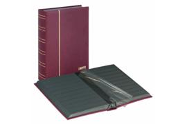Lindner Insteekalbum Luxe/Luxus Nubuk (60 blz.) Zwarte bladen/Rode kaft (Lindner 1181-R)