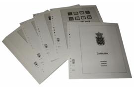 Lindner Inhouden / T-Voordruk albumbladen met folie voorbladen met stroken (Inhoud) Denemarken met Sleeswijk, Thule en Deens West-Indië 1851-1959 (35 bladen) (Lindner 128)