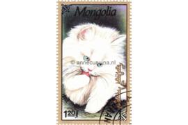 Mongolië Michel 2334 Gestempeld Katten 1991