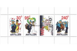 Nederlandse Antillen NVPH 1445 Gestempeld Blok Stripfiguren 2003