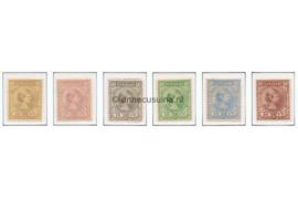 Suriname NVPH 23-28 Postfris Prinses Wilhelmina 1892