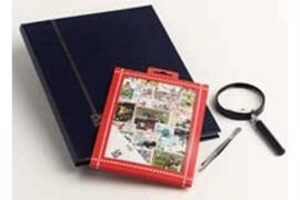 Olympiade Postzegelpakket incl. insteekboek, pincet en loupe