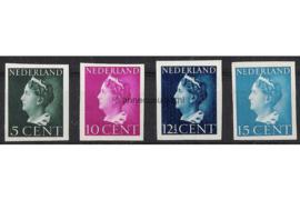 Nederland NVPH 332v-337v Postfris Ongetand Koningin Wilhelmina 1940-1947