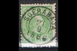 SOERABAJA 21-9-1886 op NVPH 8 (SvL 3)