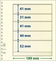 Lindner T-Blanco blad met 5 stroken (Lindner 802504) (per stuk)
