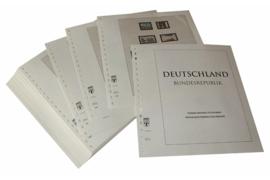 Lindner Inhouden / T-Voordruk albumbladen met folie voorbladen met stroken (Inhoud) Bondsrepubliek Duitsland 1995-1999 in kleur (44 bladen) (Lindner 120B-95)