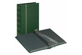 Lindner Insteekalbum Luxe/Luxus Nubuk (60 blz.) Zwarte bladen/Groene kaft (Lindner 1181-G)