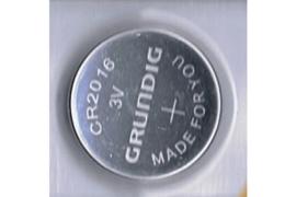 GRUNDIG CR2016 / 3 Volt / 70 mAh Knoopcel Batterij  (per stuk)